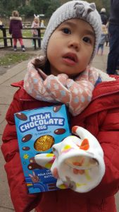 Easter Break - Cara's reward after an Easter egg hunt