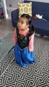 Cara role play as Princess Anna