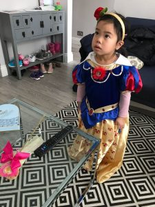 Cara role play as Snow White