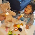 Special treat with Honey Bear