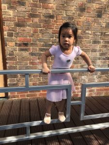 Toddler ballet class complete with sticker