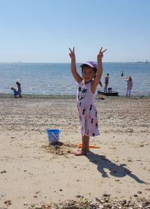 Cara at West Mersea Beach not a crook