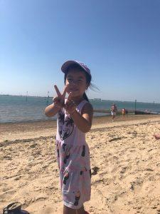 Cara at West Mersea Beach