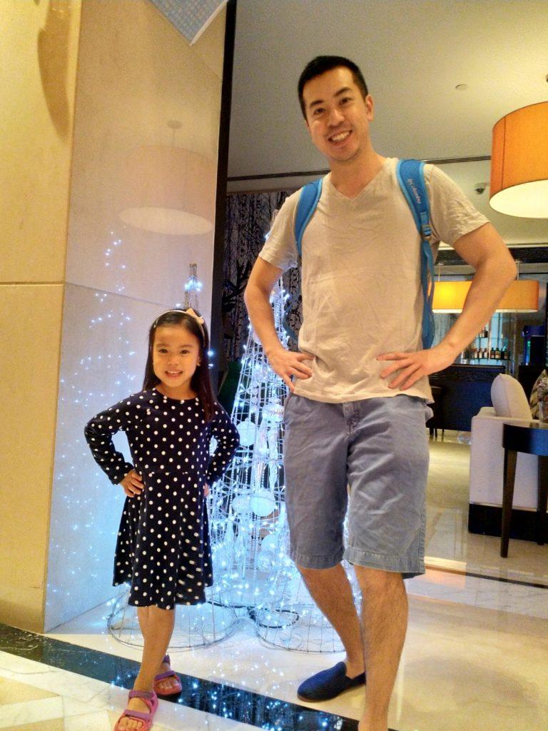 ABC Dad Cara Christmas in Dubai Pose