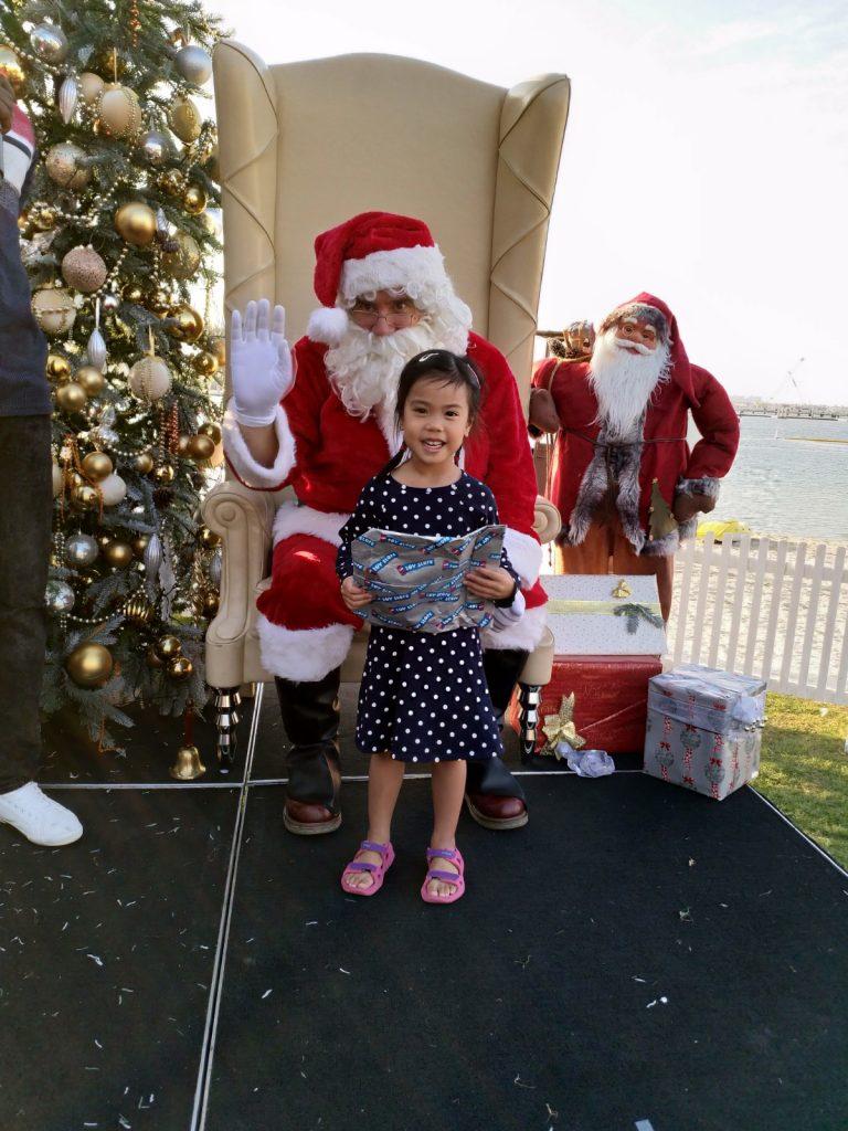ABC Dad Cara Christmas in Dubai Santa