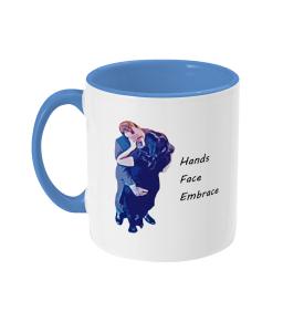 Hancock mug hands face embrace