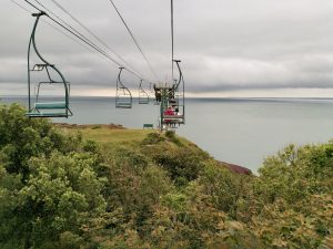 Isle of Wight Needles Chairlift view