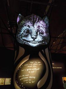V&A Museum Alice Curiouser and Curiouser cat
