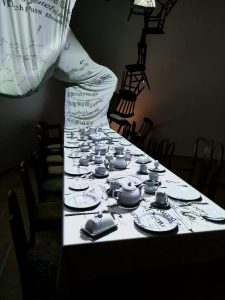 V&A Museum Alice Curiouser and Curiouser table